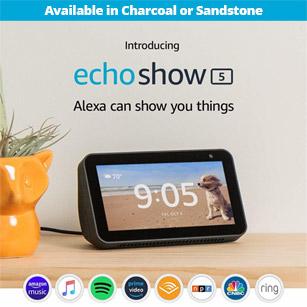 Amazon Echo Show 5 Compact Smart Display w/ Alexa