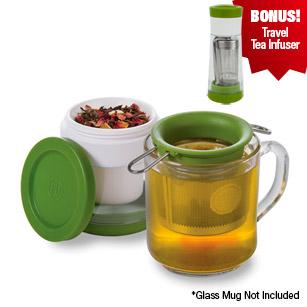 Tea Keeper & Infuser with Bonus Travel Infuser