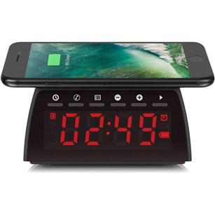Wireless Charging FM Clock Radio w/ Bluetooth