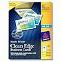 "Avery Inkjet Clean Edge Business Card - 2"" x 3.5"" - Matte - 400 x Card - White"