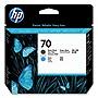 HP 70 Matte Black and Cyan DesignJet Printhead C9404A