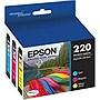 Epson 220 Color Ink Cartridges, C/M/Y (3 Pack)
