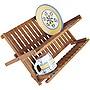 Lipper International Bamboo Folding Dish Rack