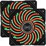 Enermax D.F.VEGAS DUO UCDFVD12P 120mm PWM Case Fans - Red/Green Twin Pack