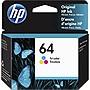 HP+64+Original+Ink+Cartridge+Tri-color+Inkjet+165+Pages+N9J89AN%23140