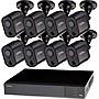 Q-see 16 Channel 1080P HD DVR with 2TB Hard Drive 8x 1080P HD PIR Bullet Cameras