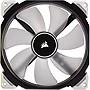 Corsair ML140 Cooling Fan - 140 mm - 1600 rpm - Magnetic Levitation - White LED