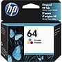 HP 64 Original Ink Cartridge - Tri-color - Inkjet - 165 Pages - 1 Each