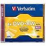 Verbatim DVD+RW 4.7GB 4X with Branded Surface 1pk Jewel Case 94520