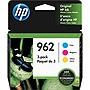 HP 962 Original Ink Cartridge Combo 3- Pack CMY Cyan Magenta Yellow 3YP00AN#140