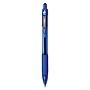 Z-Grip Retractable Ballpoint Pen Medium 1 mm Blue Ink Clear Barrel 24/Pack 12225