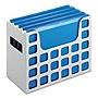 "Pendaflex Desktop File With Hanging Folders Letter Size 6"" Long Granite 23054"