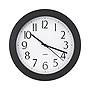 "Universal Whisper Quiet Clock 12"" Overall Diameter Black Case 1 AA sold separately UNV10451"