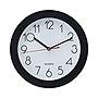 "Universal Bold Round Wall Clock 9.75"" Overall Black Case UNV10421"