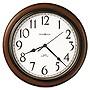 "Howard Miller Clock Talon Auto Daylight-Savings Wall Clock 15.25"" Cherry Case"