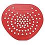 "Hospeco Health Gards Vinyl Urinal Screen 7 3/4""w x 6 7/8""h Red Cherry Dozen 03901"