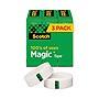 "3M Magic Tape Refill 1"" Core 0.75"" x 83.33 ft Clear 3/Pack 810K3"