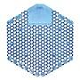 Wave 3D Urinal Deodorizer Screen Blue Cotton Blossom 10/Box 60 Screens/Ct 2WDS60CBL