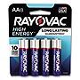 Rayovac High Energy Premium Alkaline AA Batteries 8/Pack 8158K