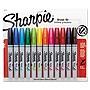 Sanford+Brush+Tip+Permanent+Marker+Medium+Assorted+Colors+12%2fSet+1810704