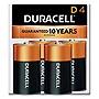 Duracell CopperTop Alkaline D Batteries 4/Pack MN1300R4Z