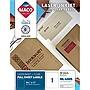 Chartpak Laser/Inkjet Matte Clear Full Sheet Labels Inkjet/Laser Printers 8.5 x 11 Clear 50/Box MML4005