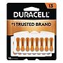 Duracell Hearing Aid Battery #13 16/Pack DA13B16