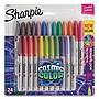 Sanford Cosmic Color Permanent Markers Medium Bullet Tip Assorted Colors 24/Pack 2033573