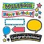 "Trend Bold Strokes Wipe-Off Celebration Signs Bulletin Board Set 18 1/4"" x 31"" T8393"