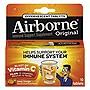 Airborne Immune Support Effervescent Tablet Zesty Orange 10/Box 72 Box/Carton