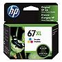 HP 67XL High Yield Tri-color Original Ink Cartridge, 3YM58AN#140