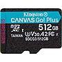 Kingston Canvas Go! Plus 512 GB Class 10/UHS-I U3 microSDXC SDCG3512GBSP