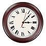 Pyramid TimeTrax Sync 16in Analog Clock Cherry Wood Roman Numeral Face S9A6AKGBXC