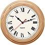 Pyramid TimeTrax Sync 16in Analog Clock Oak Wood Roman Numeral Face S9A6AKGBXO