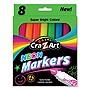 Cra-Z-Art Markers Broad Bullet Tip Neon Assorted Colors 8/Set 1011248