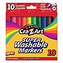 Super Washable Markers Broad Bullet Tip Assorted Colors 10/Set 1000224