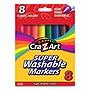 Super Washable Markers Broad Bullet Tip 8 Assorted Colors 8/Set 1000024