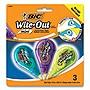 BIC Wite-Out Brand Mini Correction Tape Non-Refillable White 3/Pk WOTMP31WHI