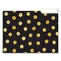 Fashion File Folders 1/3-Cut Tabs Letter Size Polka Dot Assortment 9/Pack ST617D