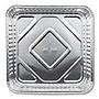 Aluminum Square Cake Pans 32 oz 8 x 8 x 1.31 Silver 500/Carton 115535