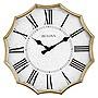 Bulova C4114 Victorian Wall Clock, Antique Gold