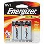 Energizer Max Alkaline 9-Volt Battery - 2 Pack