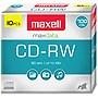 Maxell CD-RW Discs 700MB/80min 4x Silver - 10 Pack