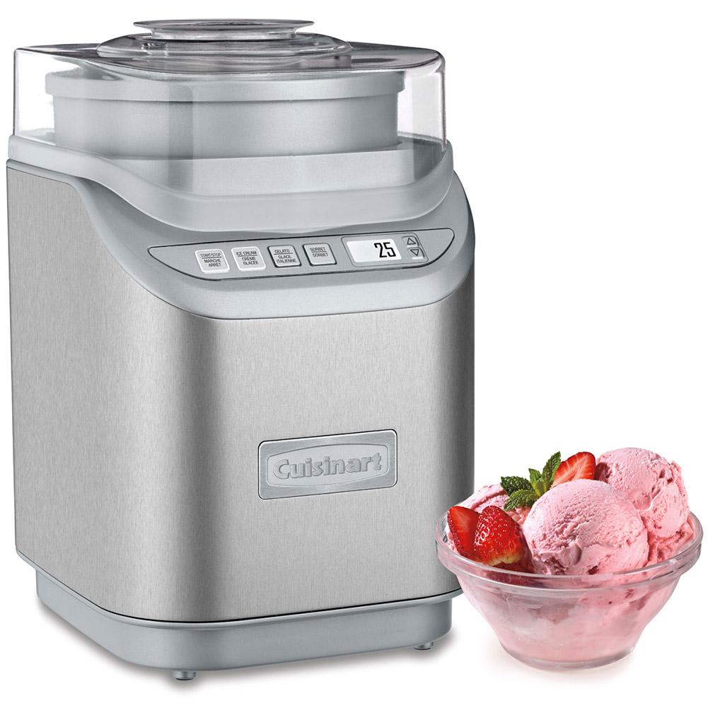 Cuisinart ice cream maker stainless steel - Image Is Loading Cuisinart Ice 70 Electronic Ice Cream Maker Brushed