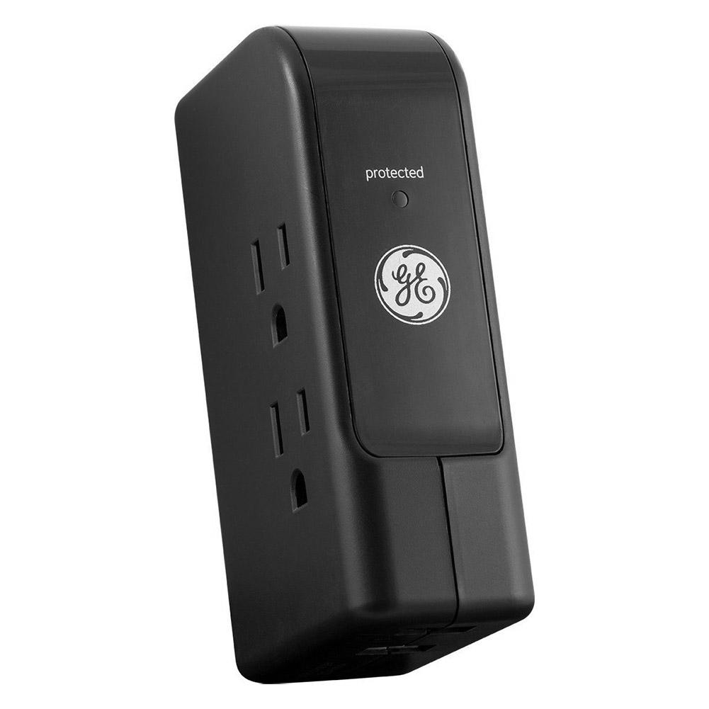 GE 13456 Travel Surge, 3 Outlet, 350J, 2 USB Ports , Folda