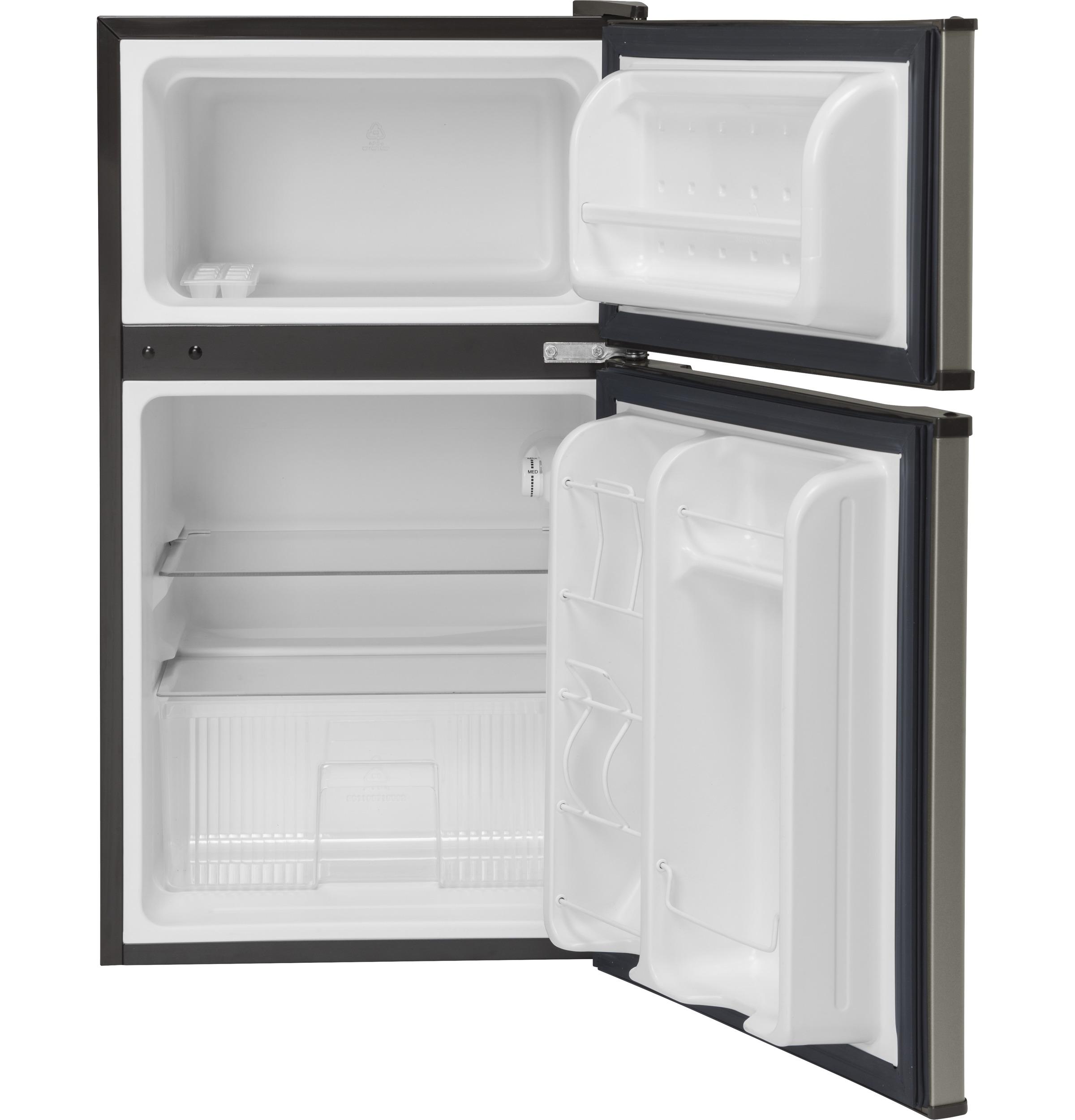GE Slate Double-door Compact Refrigerator - GDE03GMKED   eBay